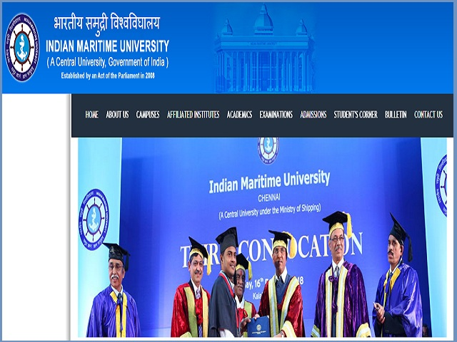 Indian Maritime University, Chennai Recruitment 2019