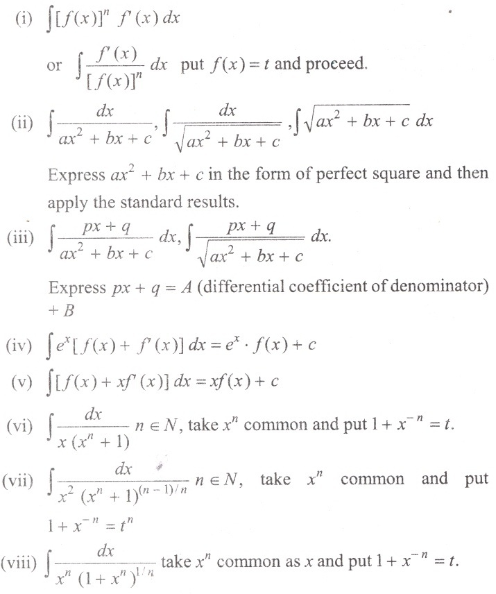 Integral Calculus formulae for quick revision|Engineering