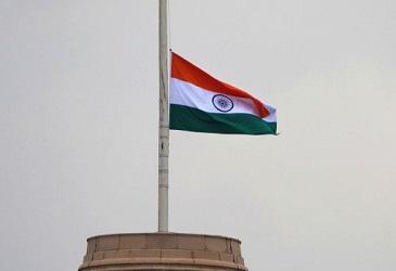 indian flag half mast