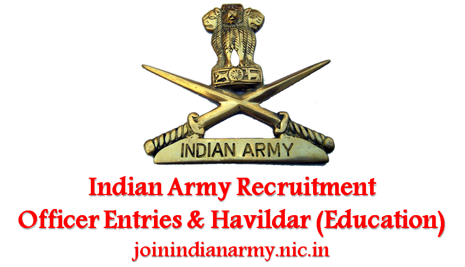 Indian Army Education Havildar Application Form Pdf