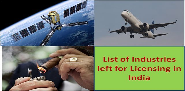 List of sectors left for Licensing in India