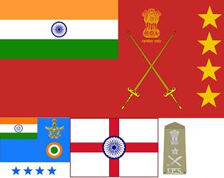 nsignia of 4 star rank officer