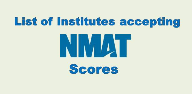 List of Institutes that accept NMAT scores