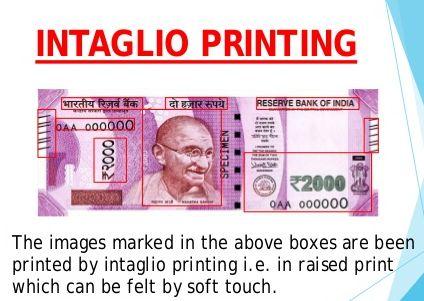 intaglio printing 2000 note