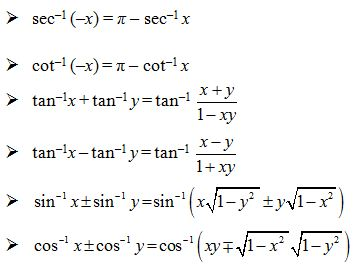 trigonometric functions formula sheet pdf