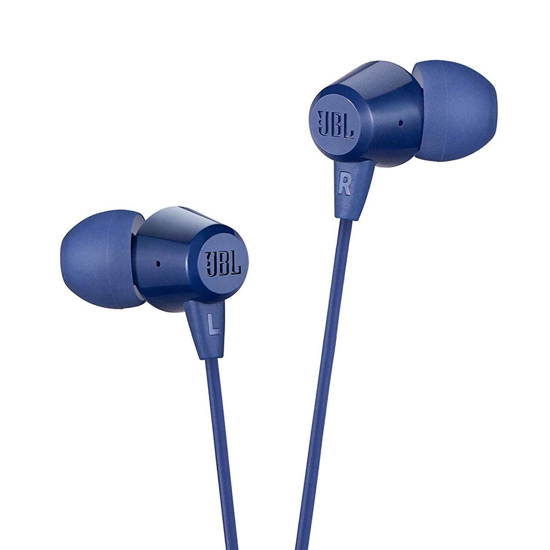 JBL blue headphones