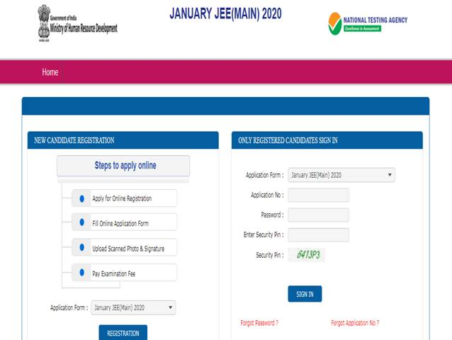 JEE Main 2020 application forms released, Check at jeemain