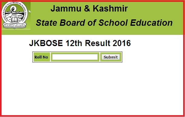 JKBOSE 12th Result Winter Zone