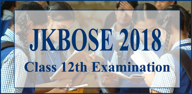 JKBOSE Intermediate Exam 2018 Begins Today From 11 AM