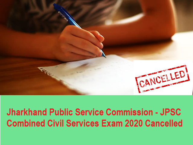 JPSC 2020 Exam Cancelled