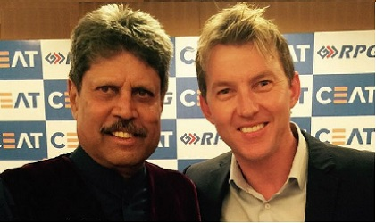kapil dev and brett lee
