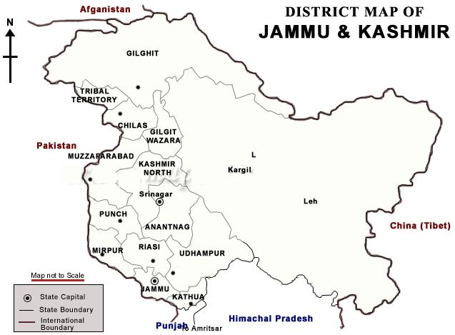 kashmir-districts