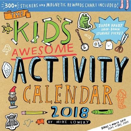 kids activity calender 2018