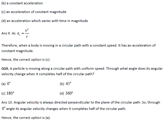 Practice questions on kinematics-II