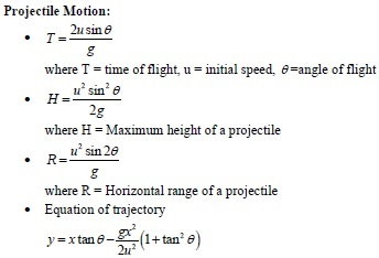 UPSEE Kinematics projectile