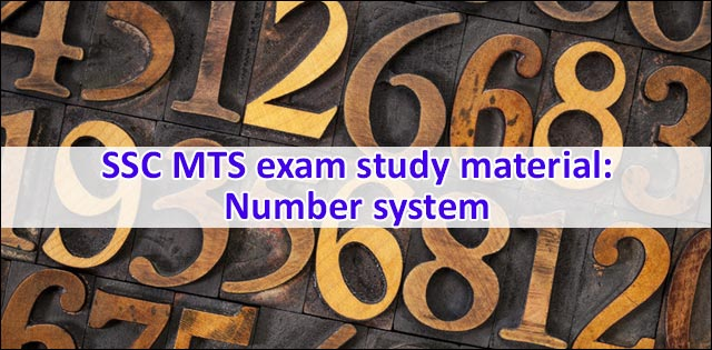 SSC MTS number system