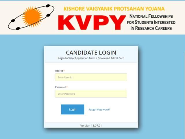 KVYP Admit Card 2019
