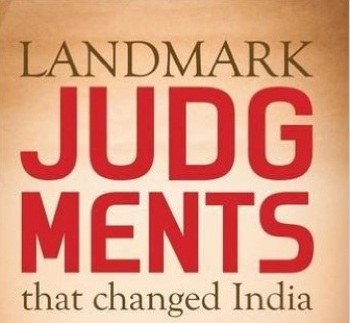Judgements for IAS Exam