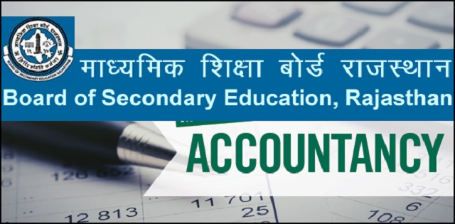 model test paper for Rajasthan Board Class 12 Accountancy
