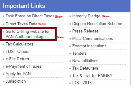 link aadhar step 1