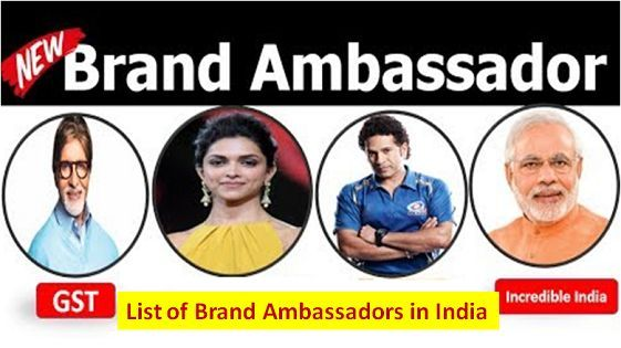 List of Brand Ambassadors in India 2019