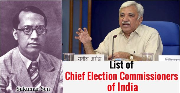 List of all Chief Election Commissioners of India