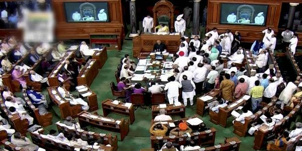 Indian Lok Sabha in session
