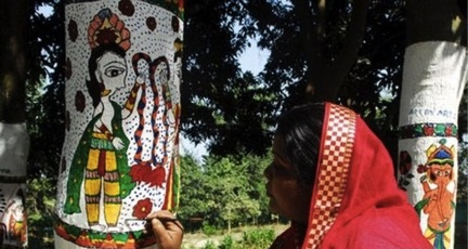 Madhubani painting is used for deforestation