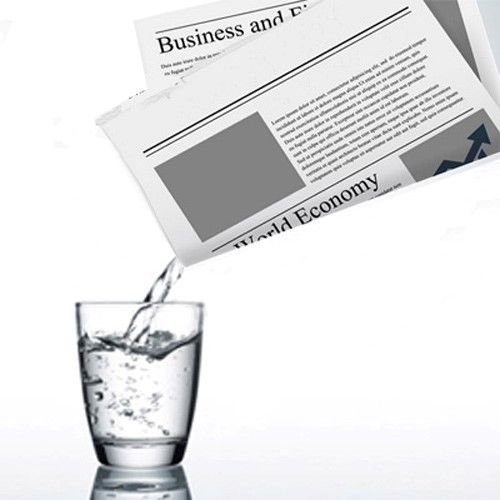 Appearing and Disappearing Liquid from Newspaper