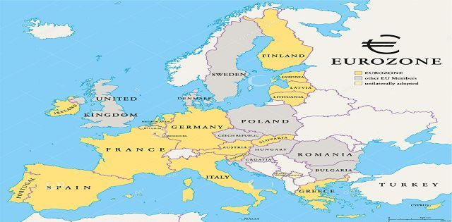 map eurozone