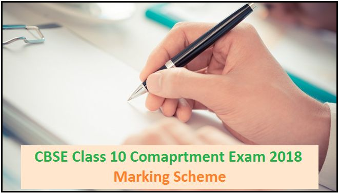 CBSE Class 10 Compartment Examination 2018: Marking Scheme