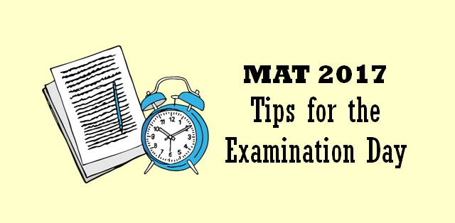 MAT 2017 LAST MINUTE TIPS