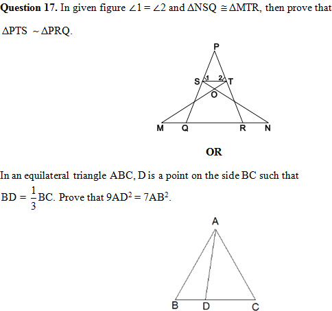 CBSE Sample Paper for Class 10 Mathematics Exam 2018