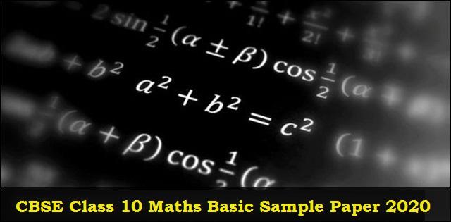 CBSE Class 10 Maths Basic Sample Paper