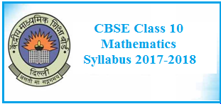 class 10 maths syllabus, cbse syllabus, class 10 mathematics, maths syllabus 2017-2018
