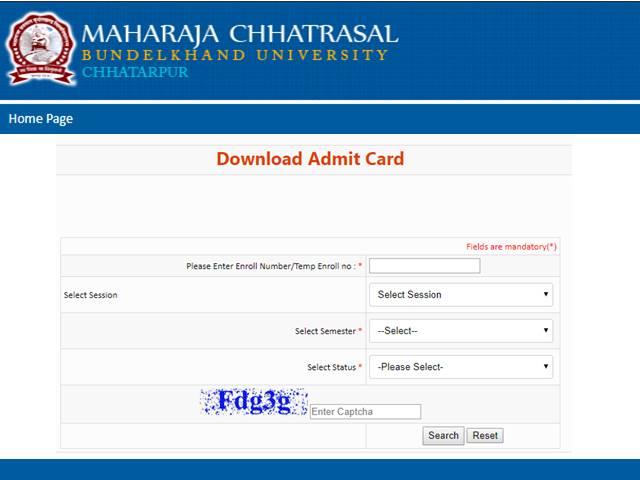 MCBU Admit Card 2019: Bundelkhand University releases Admit Card for