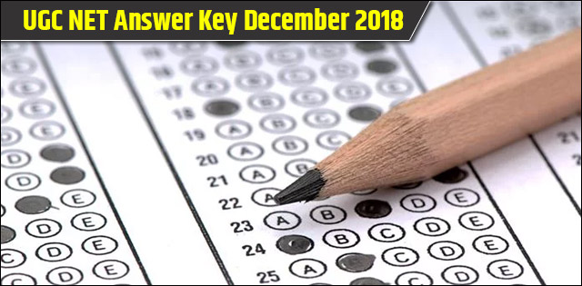 NTA UGC NET Answer Key December 2018