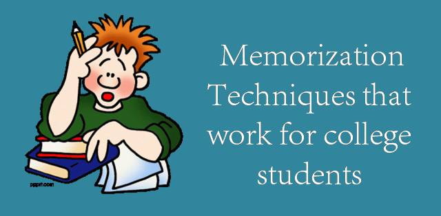 5 Best memorization techniques for college students