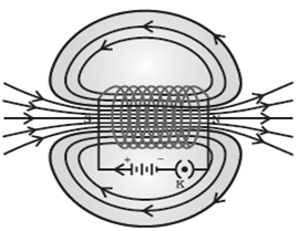 Magnetic Field Lines Through a Solenoid