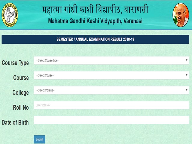 MGKVP Result 2019: Results Declared for BA Part I and II