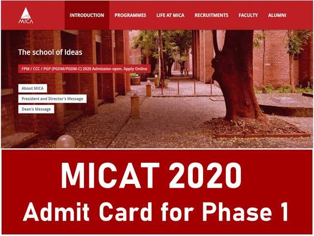 MICAT 2020 Admit Card Today