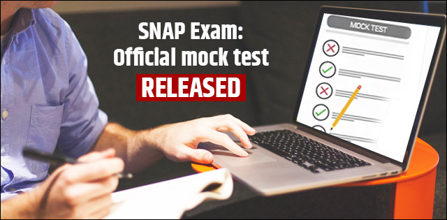 SNAP 2018 Exam: Official mock test released for the candidates