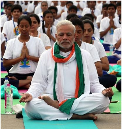 modi at yoga day