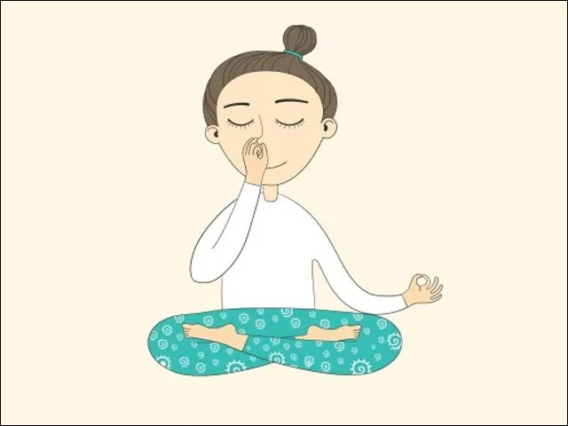 Breathing exercise for relaxation and stress management