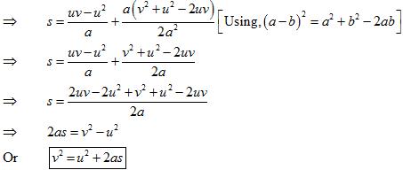Formula for Average Velocity