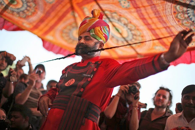 Moustache competition in Pushkar fair