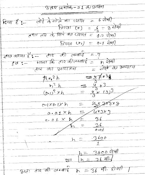 MP Board class 10th student answer sheet