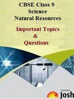 class 9 science important questions, natural resources important questions, cbse important questions