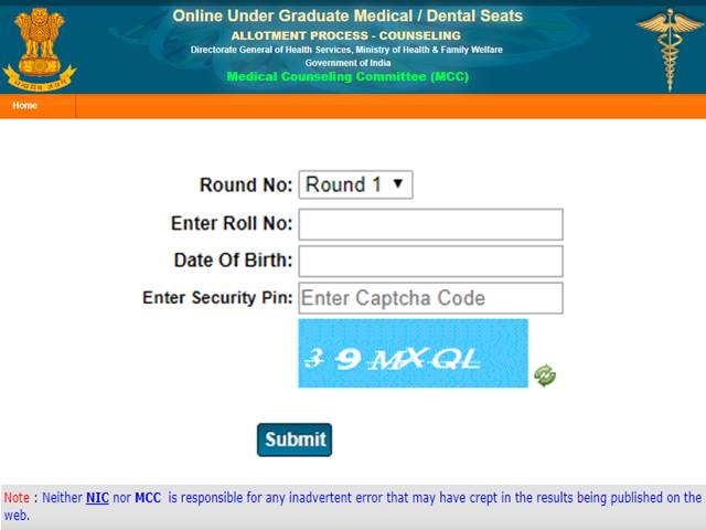 Neet Seat Allotment Letters Released For Selected Candidates Available Online Now Download At Mcc Nic In