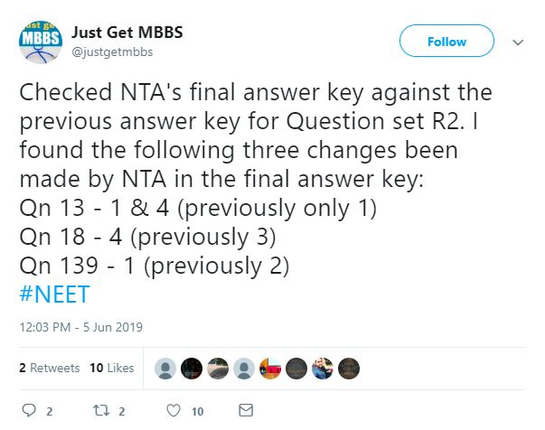 NEET 2019 Result Declared by NTA, Get Direct Link Here